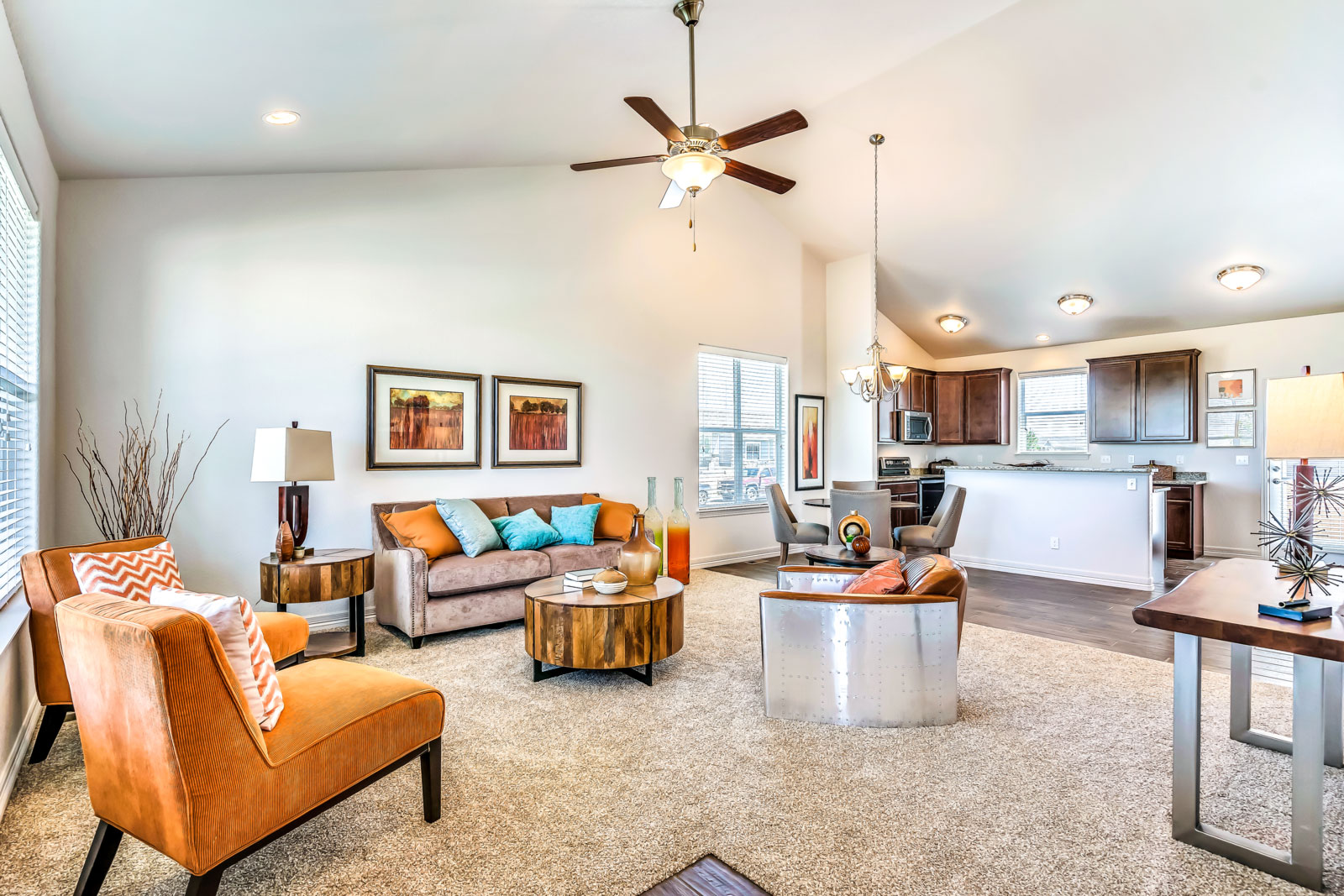 Open Floor Plans with Designer Finishes